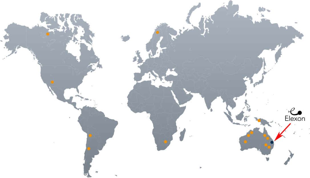 customer sites around the world